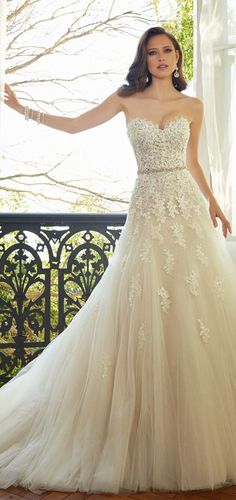 Flowing A-Line Wedding Dress | Sophia Tolli 2015 Bridal Collection