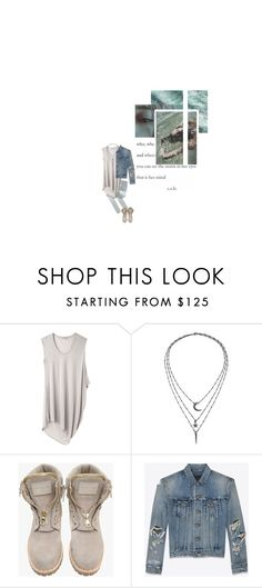 """M A R C H / S T O R M"" by nadinekenific ❤ liked on Polyvore featuring Helmut by Helmut Lang, IaM by Ileana Makri, Balmain and Yves Saint Laurent"