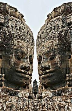 Angkor Wat, Giant Faces @ Bayon Temple Cambodia