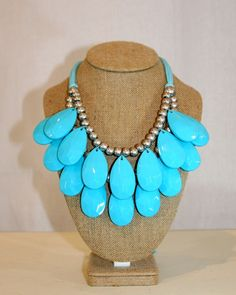 Blue Statement Necklace by Violet Clover