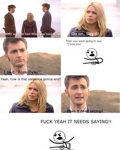 """In defense of """"Does it need saying?"""" An in-depth look at why it was absolutely necessary for the Doctor to refuse to say I love you to Rose Tyler"""
