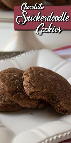 Did you know you can make snickerdoodle cookies chocolate? They are amazingly good! #cookierecipes #snickerdoodle #snickerdoodlecookies #chocolate #chocolatecookies #Chrstimascookies #chocolatedesserts #cookiessnickerdoodle