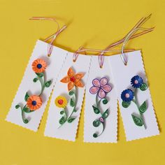 Quilling Ideas | Quilled tags gifting ideas - Online Gift Store- Corporate Gift ...