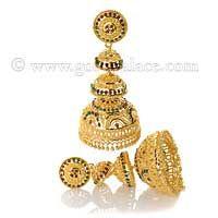 Gold Jumka Earrings