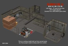 Lab - P2 Arrival Area and Elevator (working model) by RE15REvisited.deviantart.com on @DeviantArt