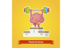 Strong powerful brain. Human Icons. $5.00