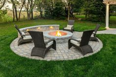 Where to Build a Fire Pit: On the Patio or a Separate Area of our Landscape Desi. - Where to Build a Fire Pit: On the Patio or a Separate Area of our Landscape Design? Paver Fire Pit, Diy Fire Pit, Fire Pit Backyard, Cool Fire Pits, Best Fire Pit, Fire Pit Off Patio, Back Yard Fire Pit, Fire Pit In Garden, Gas Outdoor Fire Pit