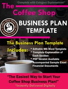 Coffee Shop Business Plan, Write Your Business Plan for Your Coffee Shop