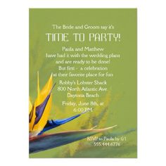DealsBird of Paradise Green Fun Saying Rehearsal Dinner Inviteonline after you search a lot for where to buy