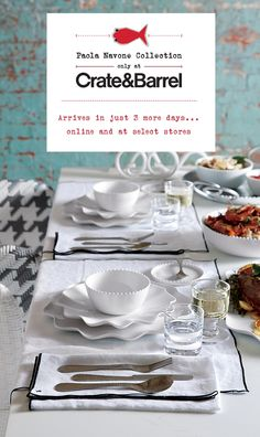 #setthetable The Paola Navone Collection arrives in just 3 days I Crate and Barrel