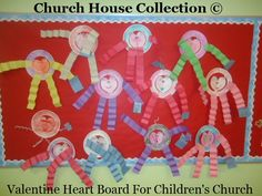 Church House Collection Blog: Valentine Heart Bulletin Board For Children's Church