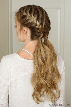Peinado hermoso.