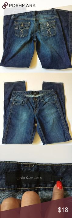 Calvin Klein Jeans Lean boot cut jeans faded wash .  Inseam measures 30.5 inches. Gently used. Calvin Klein Jeans Jeans Boot Cut