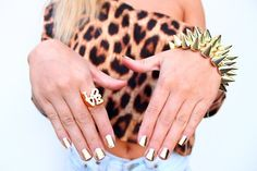Shiny Gold Nails (I have that bracelet and the ring, but in silver!).