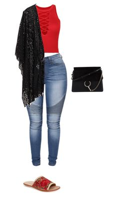 """Untitled #199"" by dyniesha ❤ liked on Polyvore featuring WithChic, Jeffrey Campbell and Chloé"