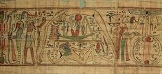 Geb Egyptian God | Credit: Detail from the papyrus of Nespakashuty showing the god Geb ...