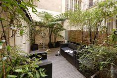 Terrasse extérieure à Paris - Olivier Olindo Architecte