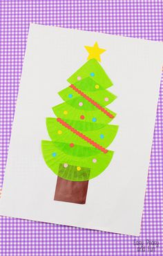Christmas Tree Cupcake Liner Craft - Easy Peasy and Fun
