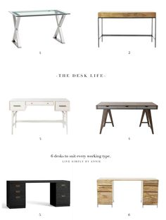 6 stylish desks for every working type!