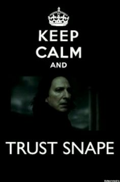 """My mom just said she was thinking about the song """"Santa is Coming to Town,"""" when she says,""""For some reason I hear """"You better be good for goodness SNAPE. Lololololololol"""