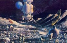 Alexey Leonov and Sokolov Andrei Konstantinovich  / 70s Sci-Fi Art