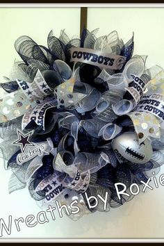 dallas cowboys wreath I am so making this when cowboys make to super bowl this year!
