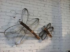 Dragonfly or Butterfly  Rustic and by PurpleThumbNotions on Etsy