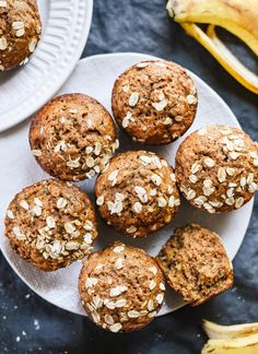 These whole wheat, maple-sweetened banana muffins are the best! So fluffy and moist, I bet no one can guess they're healthy muffins. Easy to make, too.