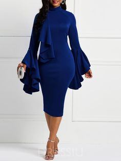 585adf3fde2 Sexy Women Plus Size Off Shoulder Long Sleeve Party Evening Cocktail ...