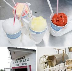 There's a snowball shop (think dressed-up snow cones) just about everywhere you look in New Orleans, but there's something particularly charming about Hansen's Sno-Bliz on Tchoupitoulas—maybe that it's still a group of Hansens shaving the ice, on a machine that Ernest Hansen perfected in 1939.   Hansen's Sno-Bliz: 4801 Tchoupitoulas Street, New Orleans LA 70115 (map); 504-891-9788; snobliz.com
