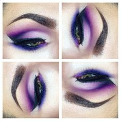 Usually I'm not into purple eyeshadow on myself. I find it boring, but this I would love to wear.