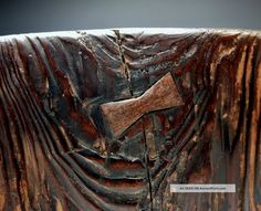 Antique Edo Period Japanese Wooden Hibachi Wabi Sabi Aesthetic