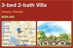 3-bed 2-bath Villa in Tampa, Florida ►$228,400 #PropertyForSale #RealEstate #Florida http://florida-magic.com/properties/6238-villa-for-sale-in-tampa-florida-with-3-bedroom-2-bathroom