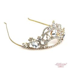 Dolce Vita Tiara Clear Crystal ❤ liked on Polyvore