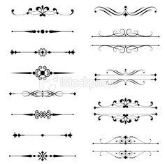 Typographic Ornaments Royalty Free Stock Vector Art Illustration - programs