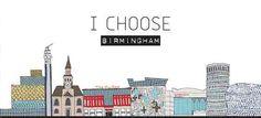 Birmingham Skyline Illustration