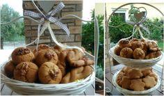 Μυρωδάτα Κουλουράκια μελιού !!!! Honey Cookies, Almond, Stuffed Mushrooms, Fruit, Vegetables, Cooking, Sweet, Desserts, Recipes