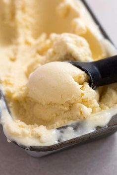 Light, fresh and creamy orange and banana sherbet (something between a sorbet and an icecream).