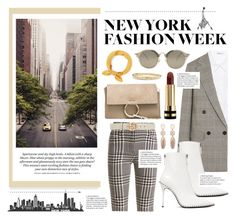 """NY Fashion Week"" by karolinapl ❤ liked on Polyvore featuring Balmain, T By Alexander Wang, STELLA McCARTNEY, Alexander Wang, Chloé, Miu Miu, Gucci and David Yurman"