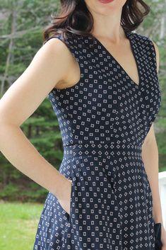 navy diamond dress