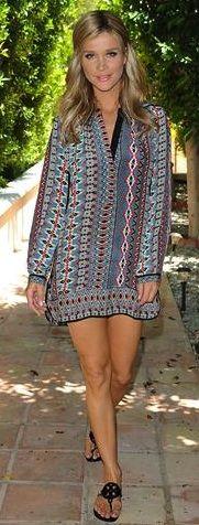 Joana Krupa is lookin HOT! in her TOLANI Natasha Tunic in Red Diamond!  TOLANICOLLECTION.COM