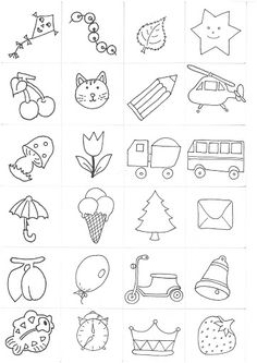 Easy Drawings For Kids, Drawing For Kids, Colouring Pages, Coloring Books, Colegio Ideas, Kids Castle, Paper Birds, Creation Couture, Rock Crafts