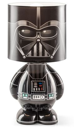 Turn down the lights, cue up the Imperial March music and enjoy this Star Wars Darth Vader Desk Lamp. Let Vader watch over your desk and shed some light into the world for once. This lamp oozes Sith style with it's super-deforme Geek Gadgets, Geeks, Decoracion Star Wars, Darth Vader Star Wars, Star Wars Zimmer, Stormtrooper, Star Wars Room, Star War 3, Death Star
