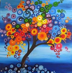 Items similar to SHORT SALE: (reduced) colorful Purple blue yellow tree fantasy wall decor painting original art made to order customised on Etsy - Purple blue yellow colourful colorful tree fantasy wall decor painting original art made to order c - Canvas Art, Canvas Prints, Art Prints, Canvas Paintings, Yellow Tree, Blue Yellow, Red Tree, Bright Yellow, Yellow Walls