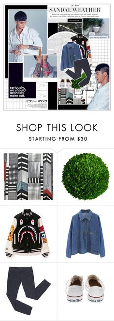 """""""85. you should be mine, cause i'm yours // C.A.P."""" by mingyv ❤ liked on Polyvore featuring Marimekko, Sukie, Thomsen Paris, Mills Floral Company, Mon Cheri and Converse"""