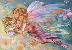 This is my entry for the Fairy Contest Model used Alright, so first of all the story. She's the fairy sprinkling that gorgeous dew from dawn to dusk! Hope you like her. Second, I've never- ever too...