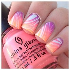 gradient watermarble I used all @chinaglazeofficial polishes for this mani. g