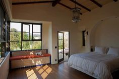 I would love to have more windows in my bedroom ... Looking over somewhere beautiful of course!