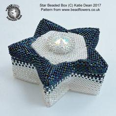Beaded Cakes E-Book ~ Beadflowers ~ Beadwork By Katie Dean Box Patterns, Beading Patterns, Beaded Boxes, Peyote Beading, Star Ornament, Beading Tutorials, Beading Projects, Beaded Ornaments, Peyote Stitch