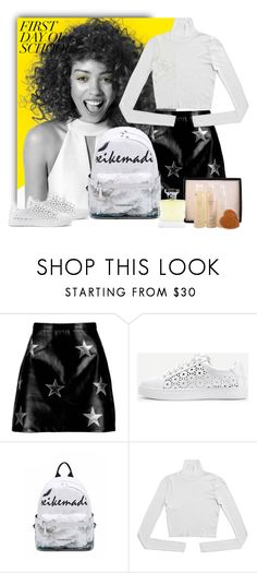 """Campus Chic: First Day of School"" by purenaturaldiva ❤ liked on Polyvore featuring Paul Mitchell, Boohoo, WithChic, BackToSchool, naturalbeauty, organicbeauty and purenaturaldiva"